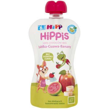 HIPP HiPPiS Jabłka-Guawa-Banany Mus owocowy po 6. miesiącu BIO 100g