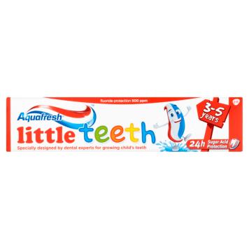 Pasta dla dzieci Aquafresh Little Teeth służy maluchom w wieku 3-5 lat.