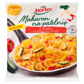 HORTEX Makaron na patelnie z sosem z czerwonym pesto 450g