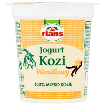 Jogurt kozi o smaku waniliowym 120g - Rians