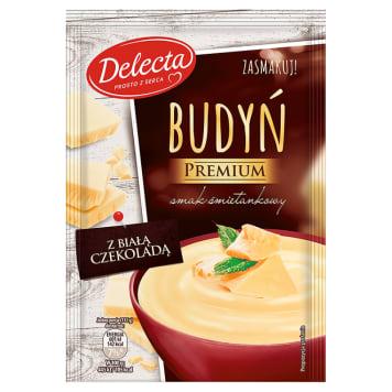 Delecta - Budyń śmietankowy z białą czekoladą. Szybka i smaczna przekąska.