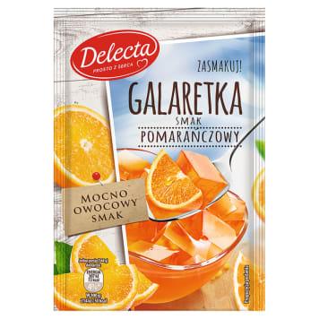 Delekta - Galaretka smak pomarańczowy 75g. Gwarancja najwyższej jakości.