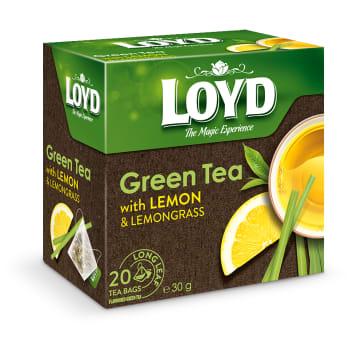 Herbata zielona z cytryną 20 torebek - Loyd Tea. Gwarancja pysznego smaku.