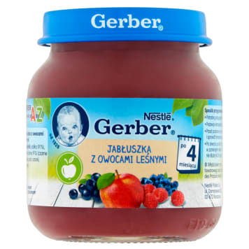 Gerber Deserek Jabłka z owocami leśnymi - po 4.miesiącu sporządzony z najlepszych składników.