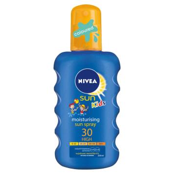 NIVEA SUN Kids Nawilżający spray ochronny na słońce dla dzieci SPF30 200ml