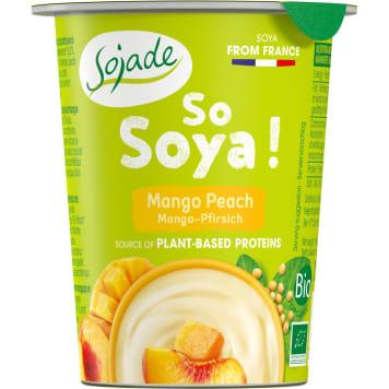 Jogurt sojowy mango-brzoskwinia Bio - Sojade. Z najwyższej jakości upraw.