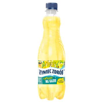 ŻYWIEC ZDRÓJ- Gaz z sokiem o smaku cytrynowym. Doskonałe połączenie wody i soku z owoców