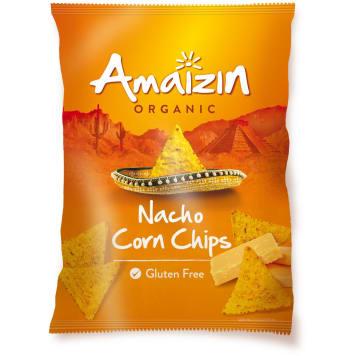 AMAIZIN Chipsy nachos kukurydziane o smaku serowym bezglutenowe BIO 150g