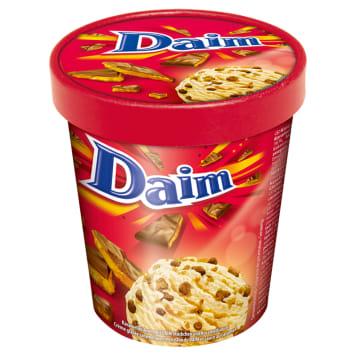 Lody karmelowe z czekoladą – Daim to mrożony deser z karmelowym wnetrzem.