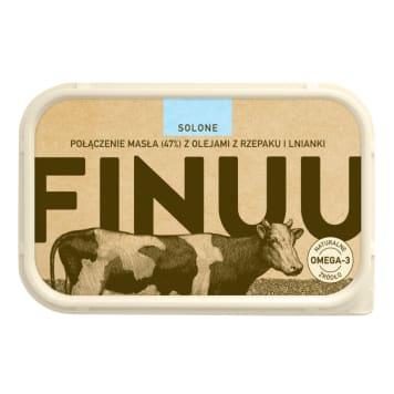 Solone z fińskiego masła Finuu zawiera tłuszcze roślinne i zwierzęce.