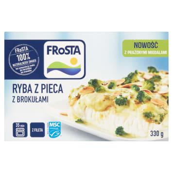 Ryba z pieca z sosem brokułowym-Frosta. Doskonały pomysł na pełnowartościowy i smaczny posiłek.