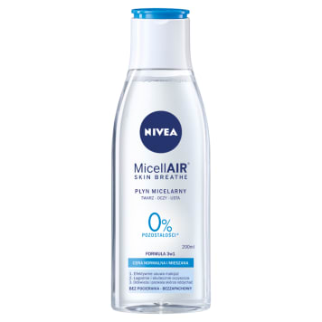 Pielęgnujący płyn micelarny - NIVEA. Przeznaczony do cery normalnej i mieszanej.