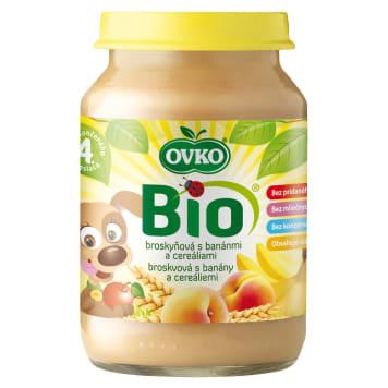 OVKO Deserek brzoskwinia, banan, zboża - po 4 miesiącu BIO 190g
