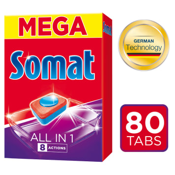 SOMAT All in 1 Tabletki do zmywarek 80 szt. 1 szt