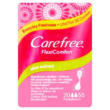 CAREFREE Flexi Comfort Wkładki higieniczne z ekstraktem z aloesu 20 szt. 1szt
