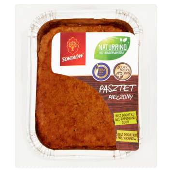 SOKOŁÓW Naturrino - pasztet pieczony, 200 g. Doskonały smak dla ceniących naturalne produkty.