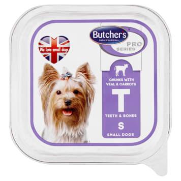 BUTCHER'S PRO SERIES Karma dla psów dorosłych mięsne kawałki w sosie z ciel. i march. 150g