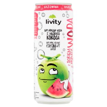 LIVITY Woda kokosowa z sokiem z arbuza gazowana 320ml