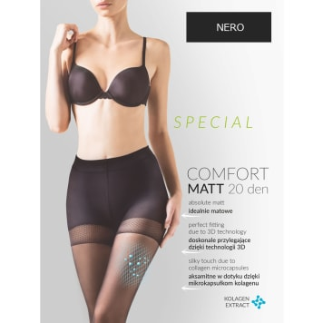 GABRIELLA Rajstopy Comfort Matt 20 Den, rozmiar 3, kolor Nero 1szt