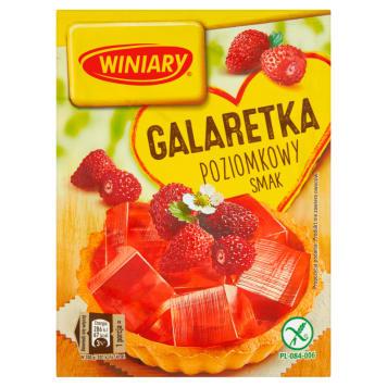 Winiary Galaretka o smaku poziomkowym - błyskawiczna i doskonała do ciast.