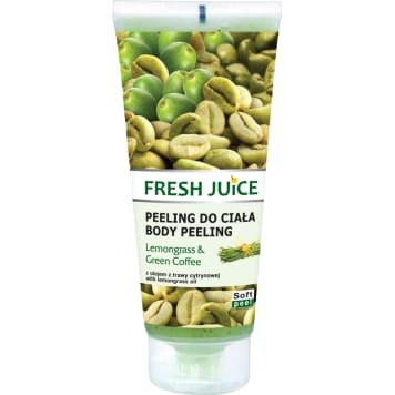 FRESH JUICE Peeling do ciała Trawa Cytrynowa & Zielona Kawa 200ml