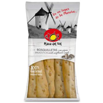 PLAZA DEL SOL Paluszki chlebowe z ziarnami słonecznika 100g