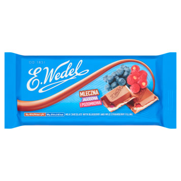 WEDEL-Czekolada mleczna z jagodą i poziomką - słodka chwila przyjemności