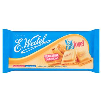 Czekolada - Wedel. Połączenie karmelowej czekolady z niewielkimi wafelkami.