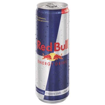 Red Bull Napój energetyczny podnosi wydajność organizmu i przyspiesza metabolizm.