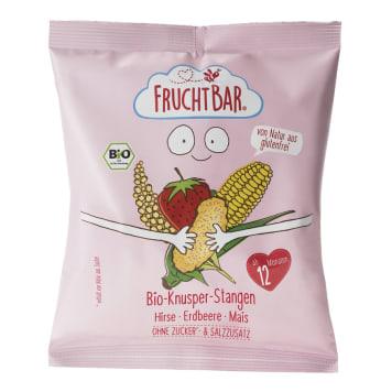 FRUCHTBAR Chrupki jaglano-kukurydziane truskawkowe BIO 30g