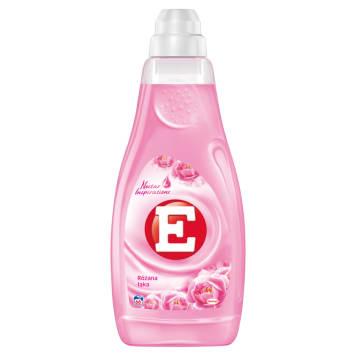 Płyn do płukania tkanin atłasowy dotyk - E nadaje ubraniom wiosenny, świeży zapach.