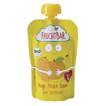 FRUCHTBAR Mus banan, brzoskwinia, mango BIO 100g