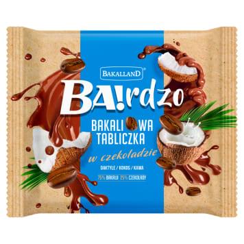 BAKALLAND BA!rdzo Bakaliowa tabliczka - daktyle, kokos, kawa 65g