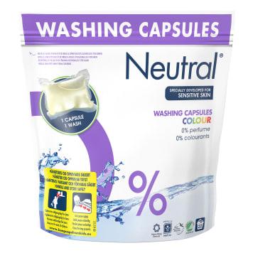 NEUTRAL Hipoalergiczne kapsułki do prania tkanin kolorowych 22 kapsułki 604g