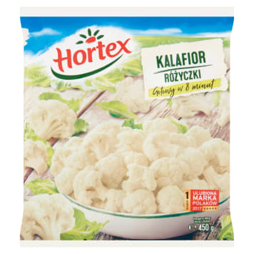 Kalafior mrożony Hortex to wartościowe warzywo, bogate w składniki odżywcze.