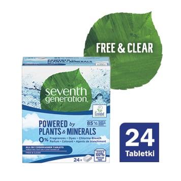 SEVENTH GENERATION Tabletki do zmywarek Free&Clear 24 szt. 480g