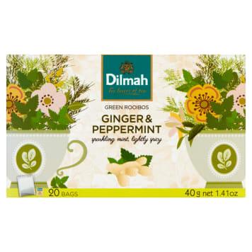 DILMAH Zioła do zaparzania Ginger & Peppermint 20 torebek 40g