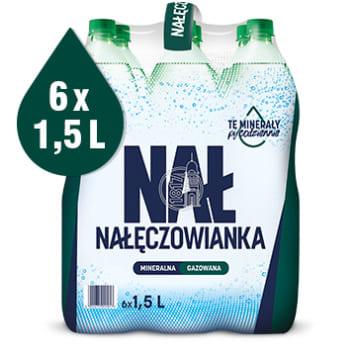 Naturalna woda mineralna gazowana - Nałączowianka