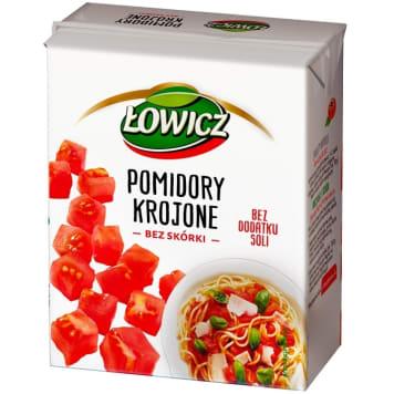ŁOWICZ Pomidory krojone bez skórki 390g