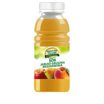 SŁONECZNA TŁOCZNIA Sok NFC 100% Jabłko Gruszka Brzoskwinia 250ml