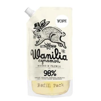 YOPE Mydło w płynie Wanilia i Cynamon - uzupełnienie 500ml