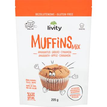 LIVITY Mieszanka do wypieku muffinek bezglutenowe 205g