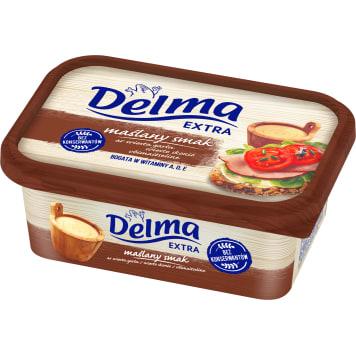 Margaryna z masłem Extra - Delma. Połączenie tłuszczu roślinnego i zwierzęcego.