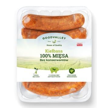 GOODVALLEY Z chowu bez antybiotyków Kiełbasa 100% mięsa. 400g