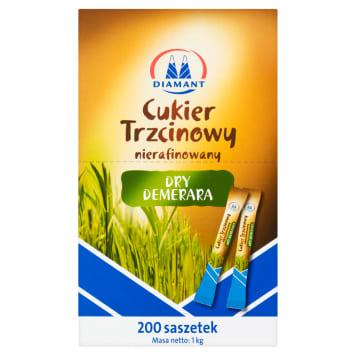 Cukier trzcinowy w saszetkach (200szt) - Diamant. Idealna alternatywa dla klasycznego cukru.