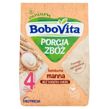 BOBOVITA Porcja Zbóż Kaszka bezmleczna manna po 4 miesiącu 170g