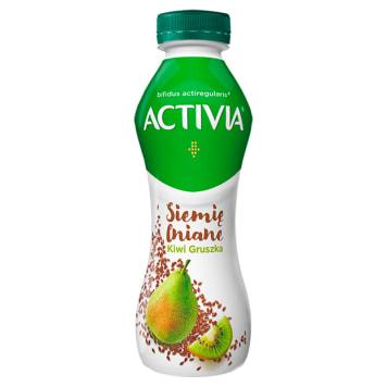 DANONE Activia Siemię lniane Gruszka-kiwi Jogurt 280g