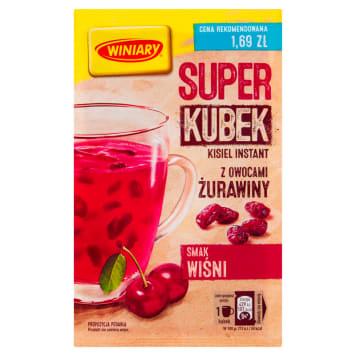 WINIARY Super Kisiel wiśniowy z owocami żurawiny 27g