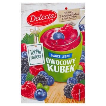 Delecta - Kisiel Owocowy Kubek. Prosta w przygotowaniu i sycąca przekąska.