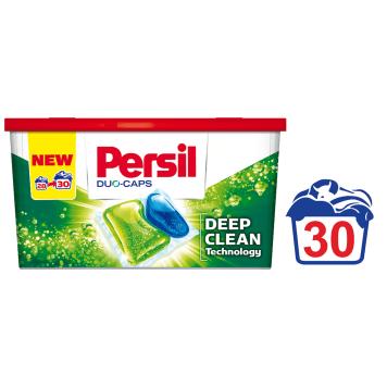 Żelowe kapsułki do prania - Persil Duo-Caps. Skuteczne usuwanie plam i ochrona białych tkanin.